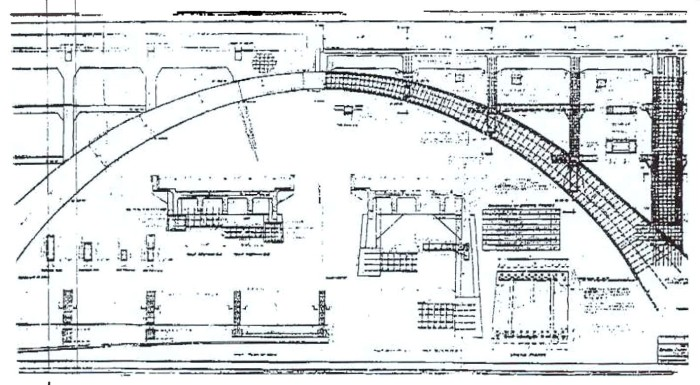 Engineering plans for the Liemert Bridge